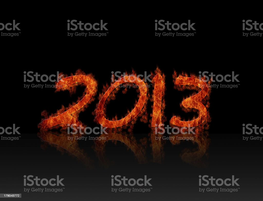 2013 flame. royalty-free stock photo