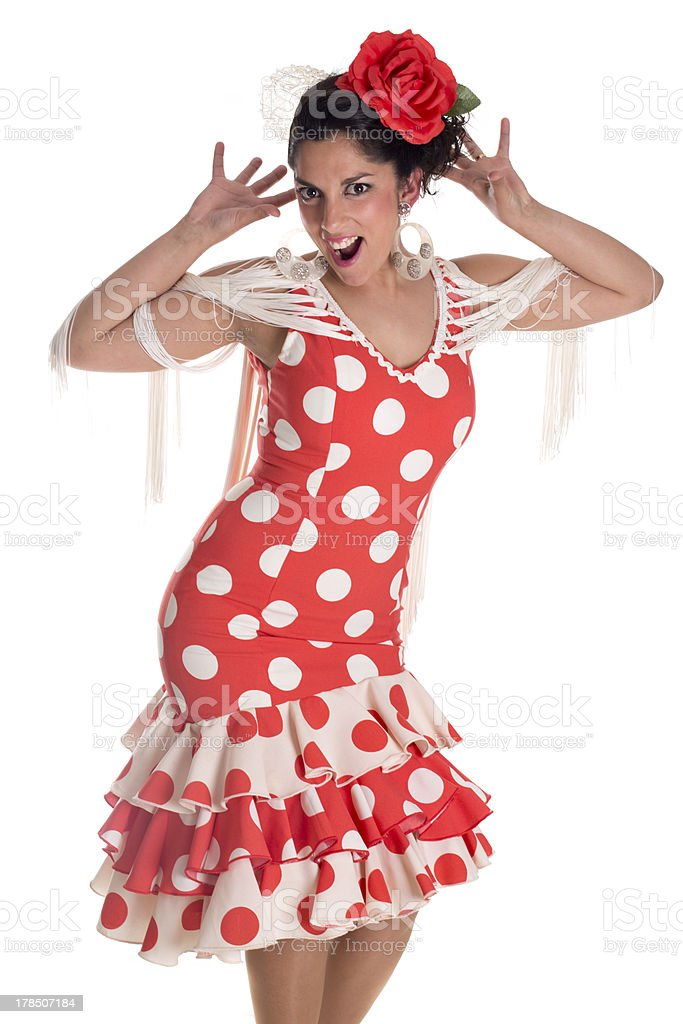 flamenca andalusian royalty-free stock photo