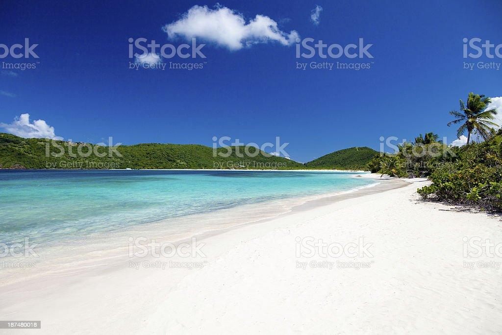 Flamenco Beach on Culebra Island, Puerto Rico stock photo