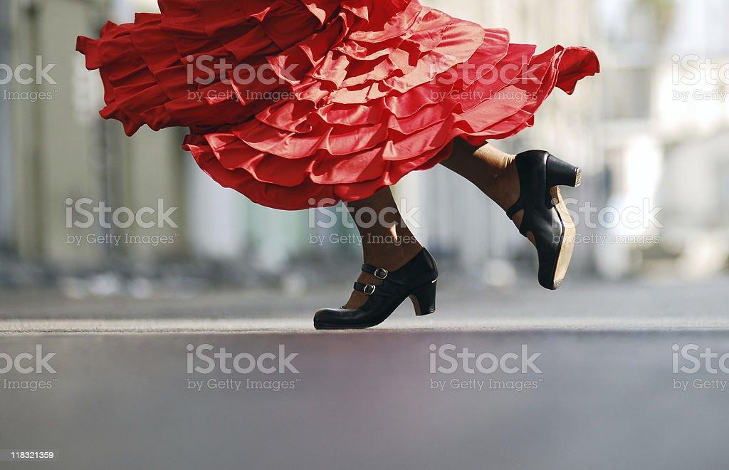 Flamenco dance stock photo
