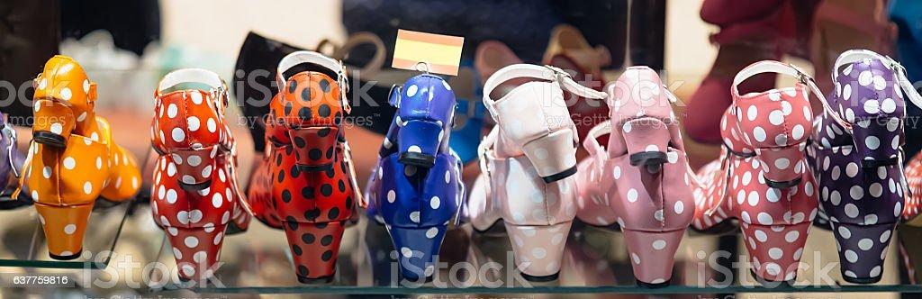 Flamenco dance shoes stock photo