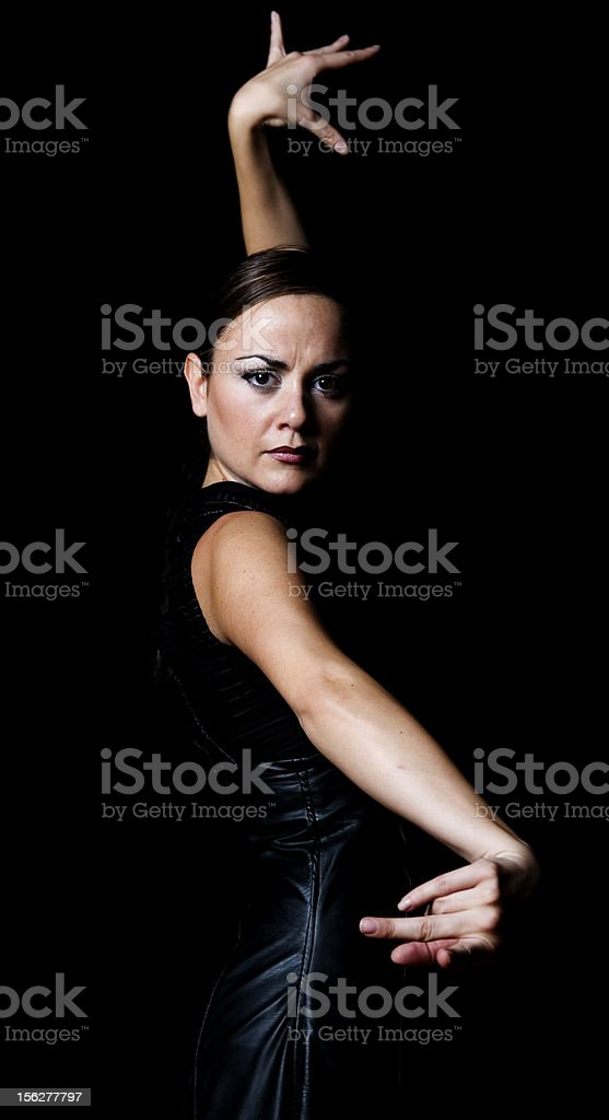 Flamenco Dancer, Low Key stock photo