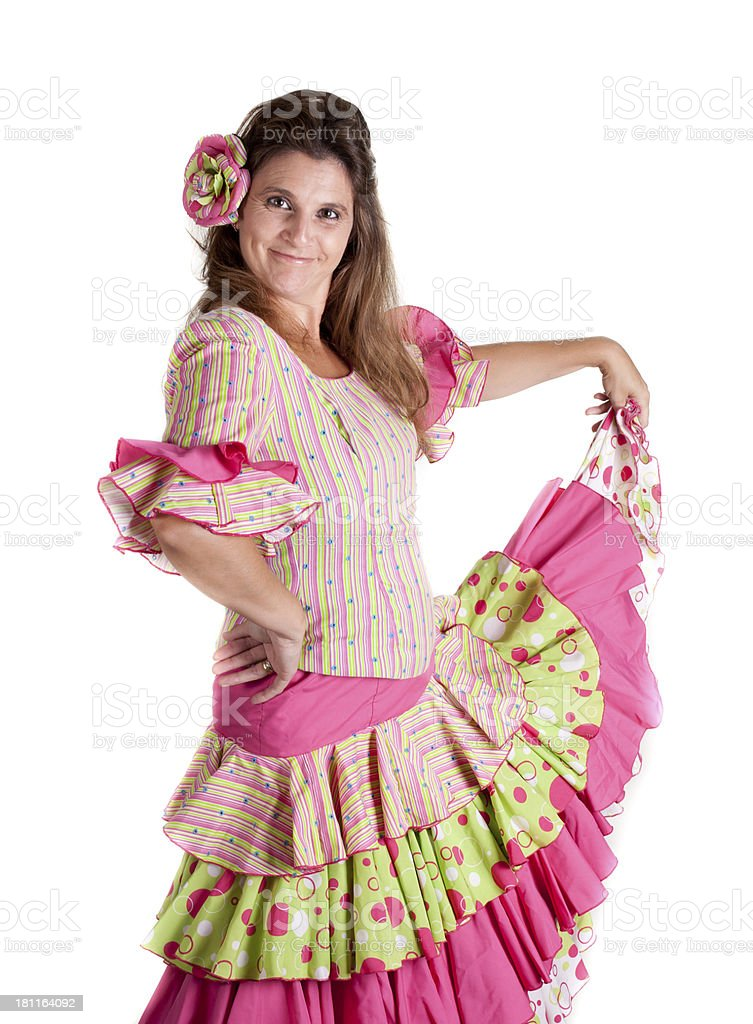 flamenco dancer royalty-free stock photo