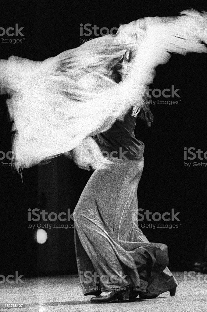 Flamenco dancer with shawl stock photo
