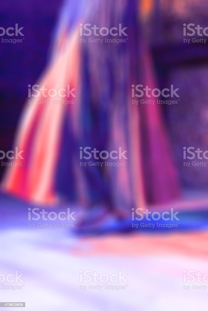 Flamenco dancers blur background stock photo