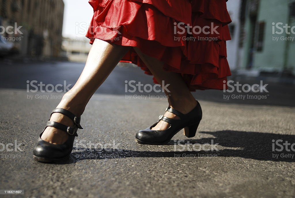 Flamenco dancers feet stock photo