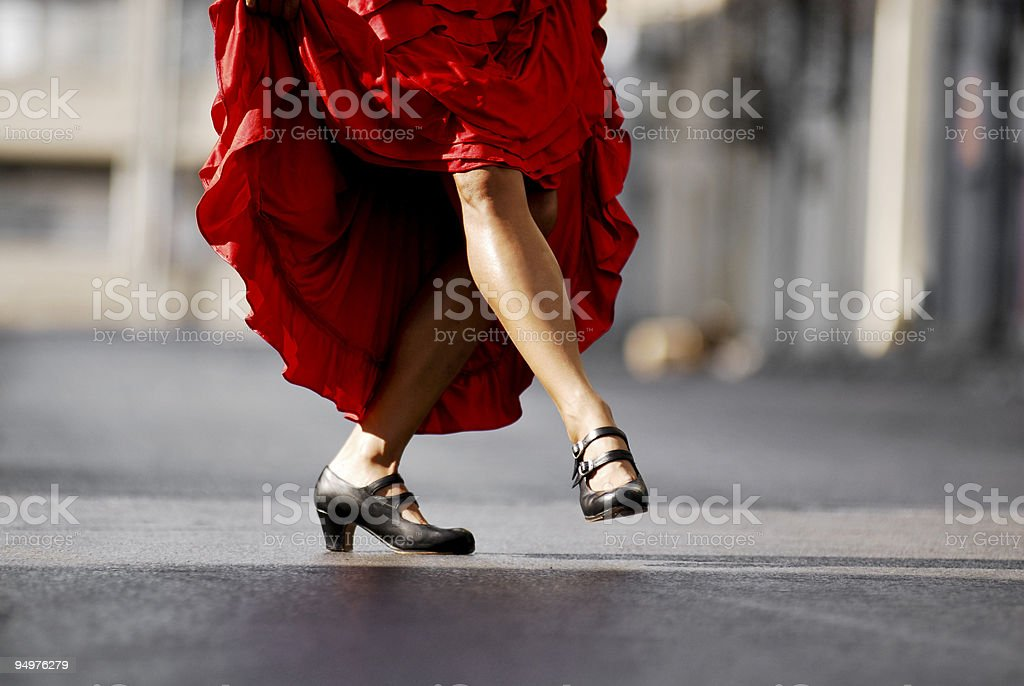 Flamenco dancers legs stock photo