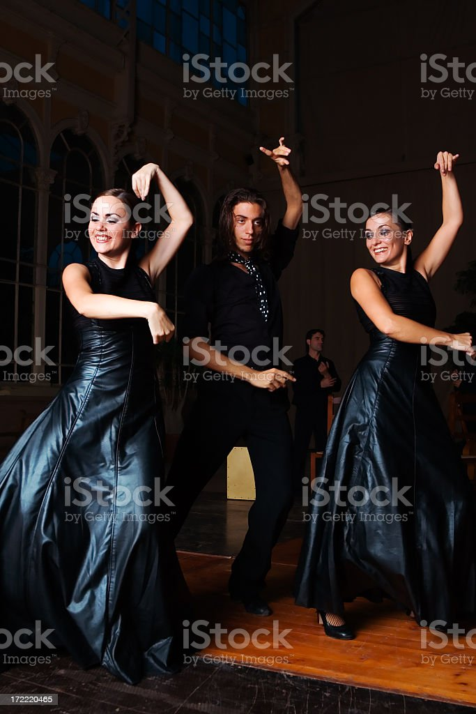 Flamenco dancers royalty-free stock photo