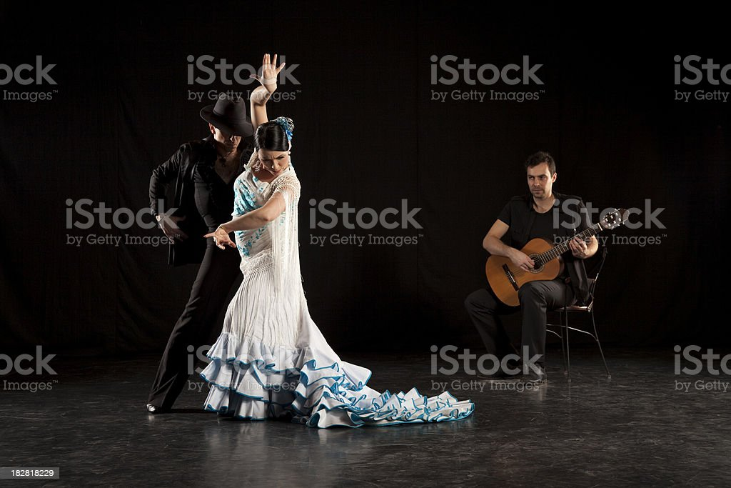 flamenco dancers royalty-free stock photo