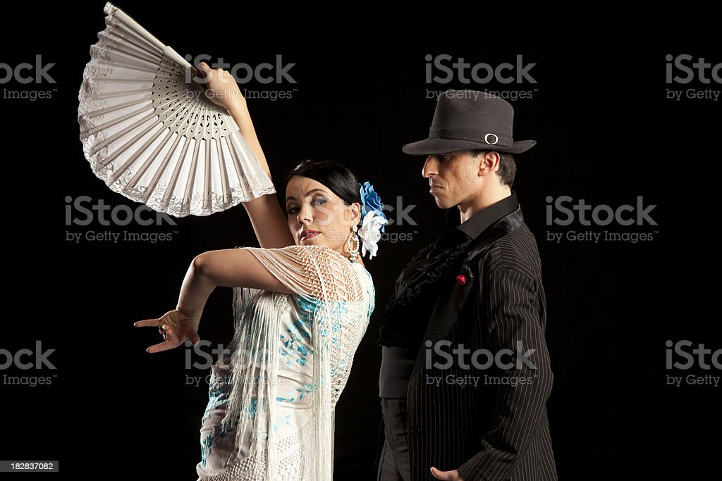 flamenco dancers stock photo