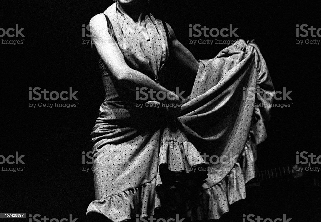 Flamenco dancer's skirt stock photo