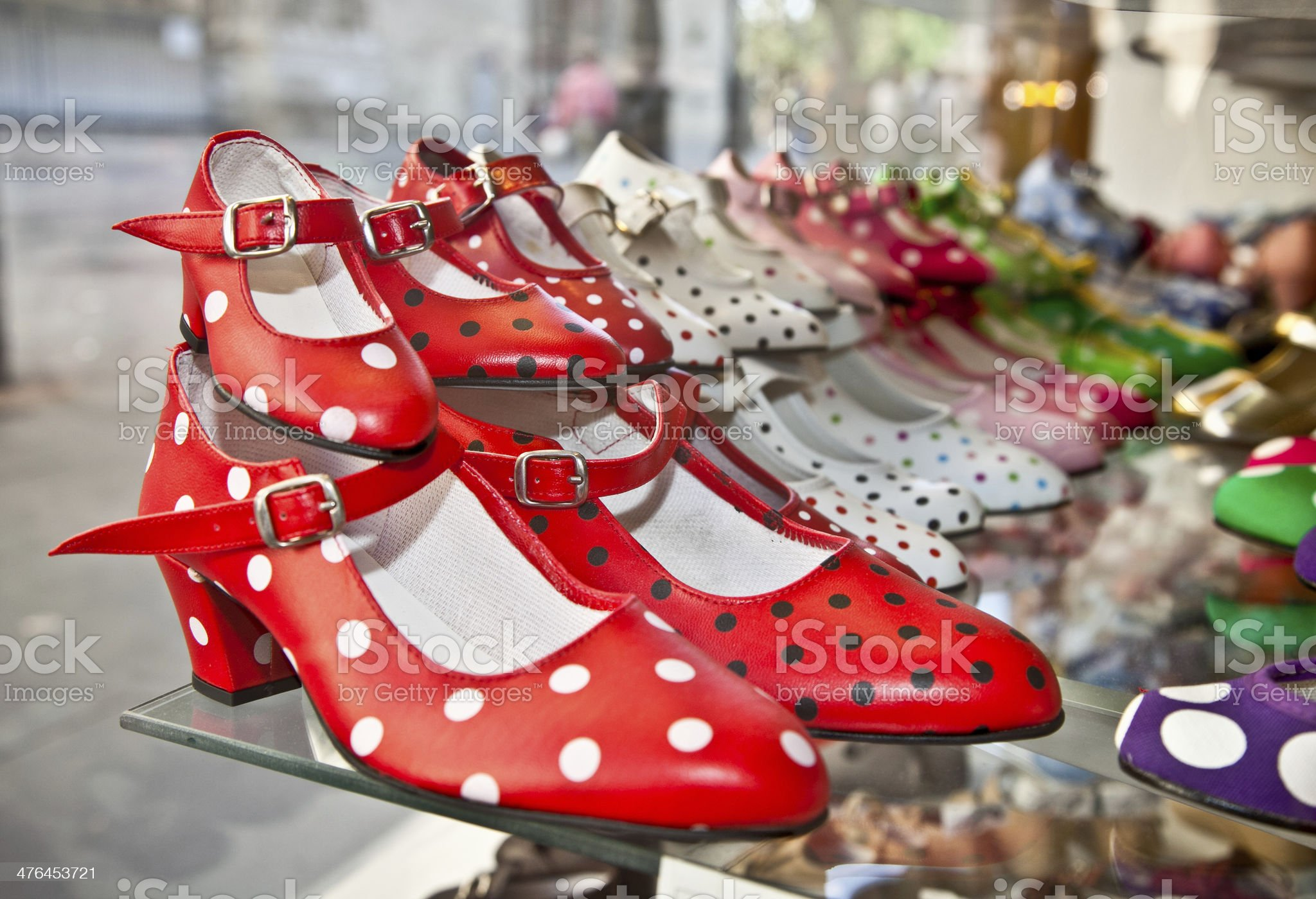 Flamenco dancing gypsy shoes in Seville royalty-free stock photo