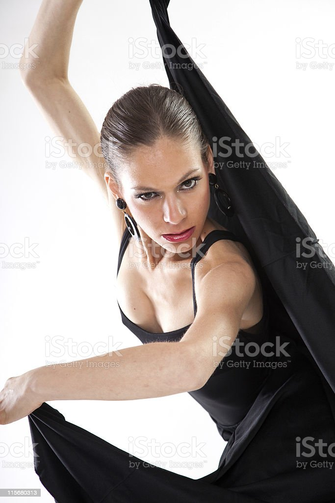 Flamenco dancing. stock photo