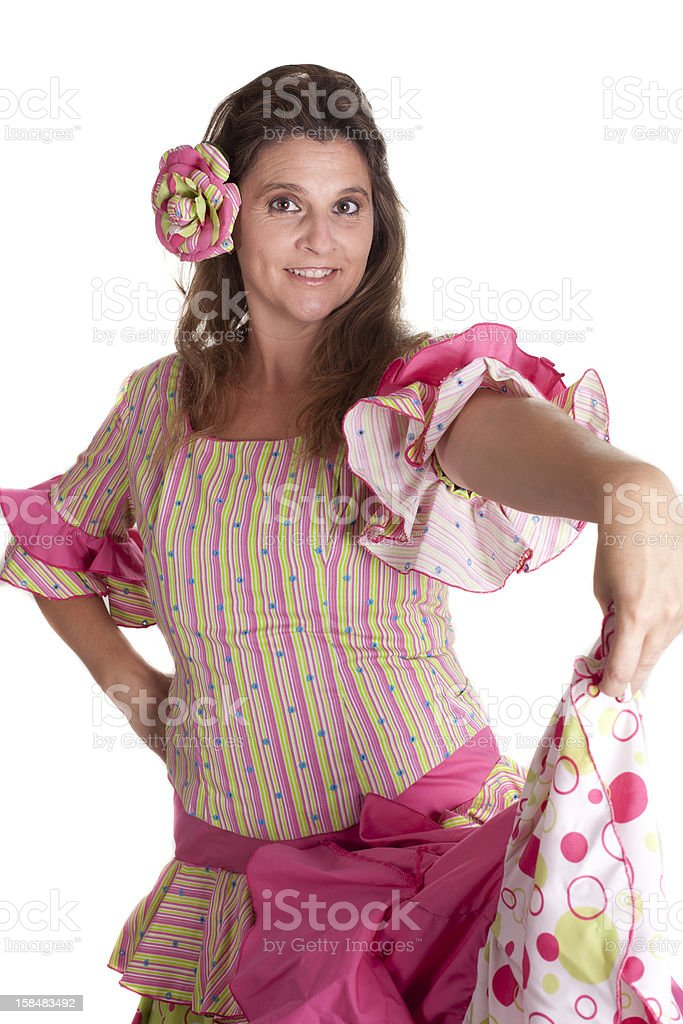 flamenco dancing royalty-free stock photo