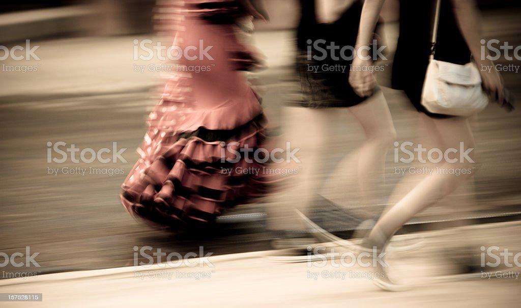 Flamenco dress - motion blur royalty-free stock photo