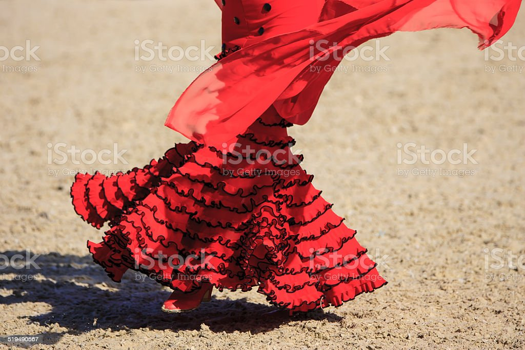 Flamenco dress stock photo