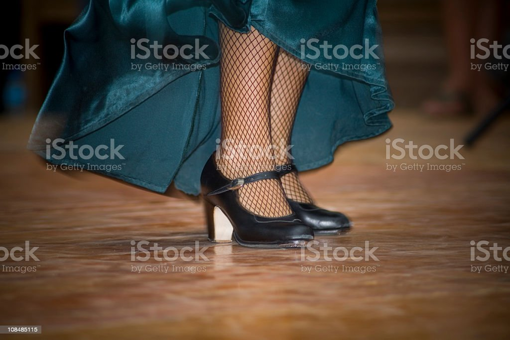 flamenco feet stock photo