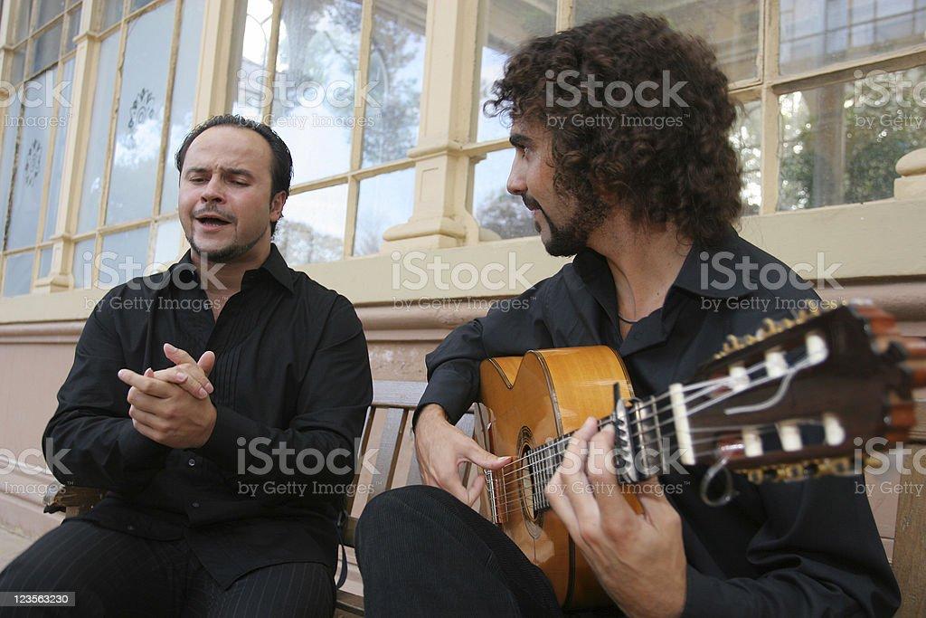 Flamenco musicans stock photo