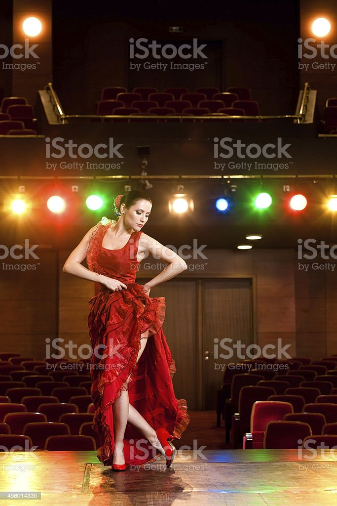 Flamenco Passion stock photo