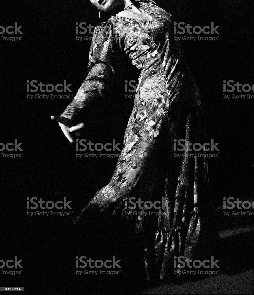 Flamenco sensuality royalty-free stock photo