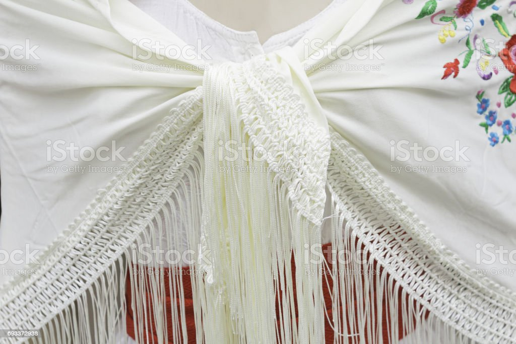 Flamenco shawl stock photo