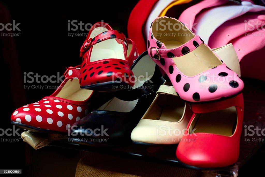 Flamenco shoes stock photo