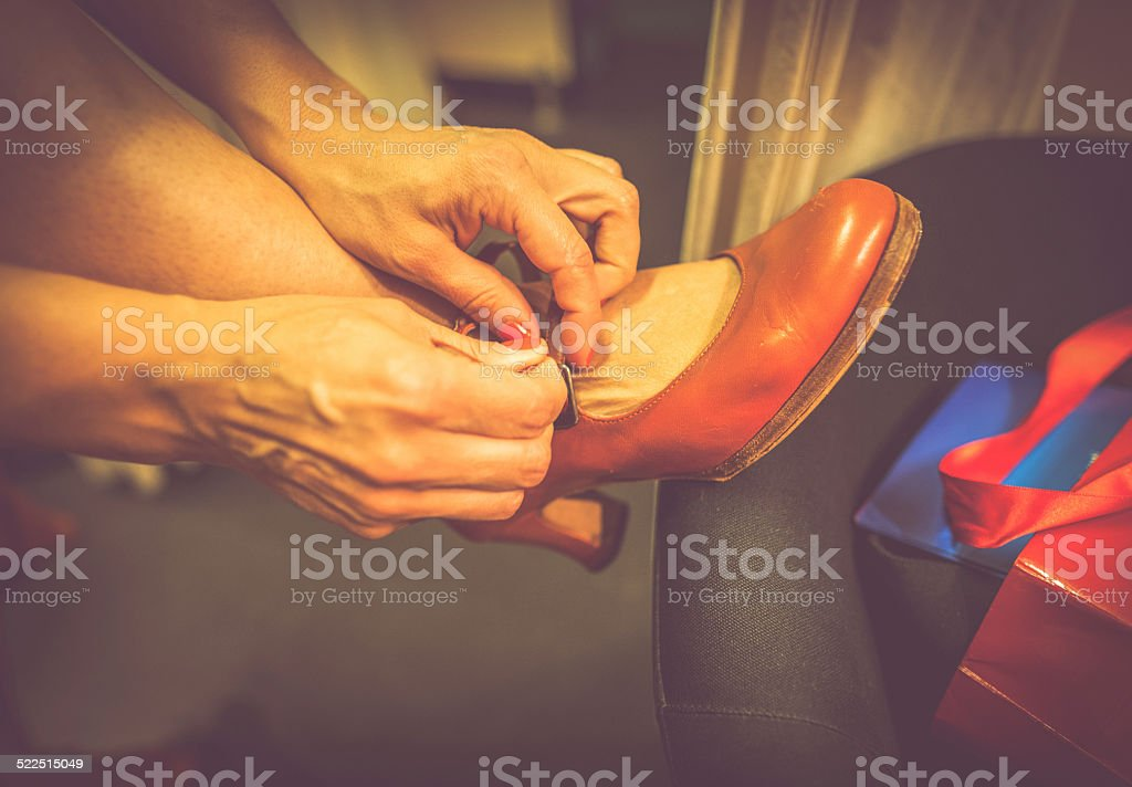 Flamenco shoes stock photo