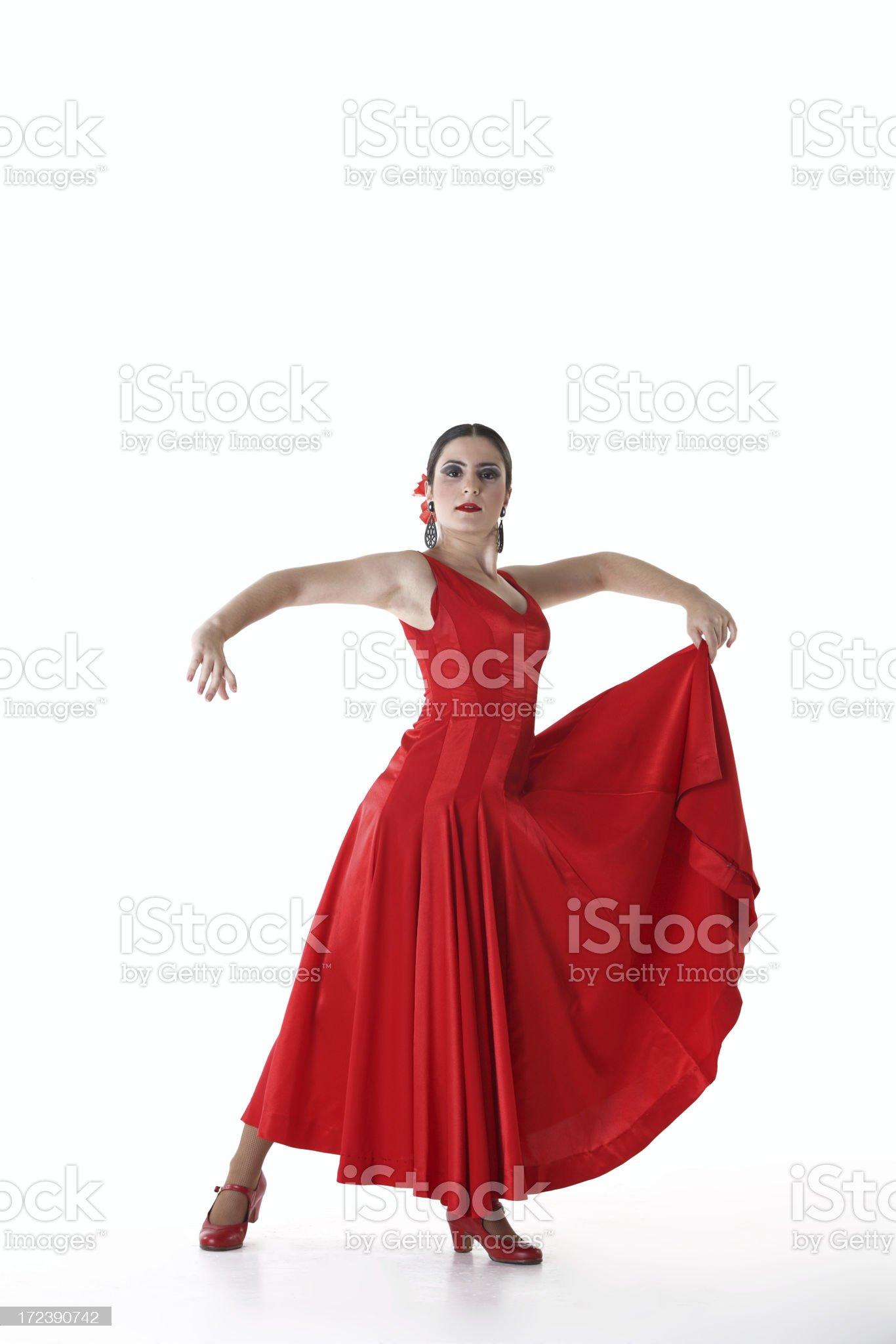 Flamenco woman royalty-free stock photo