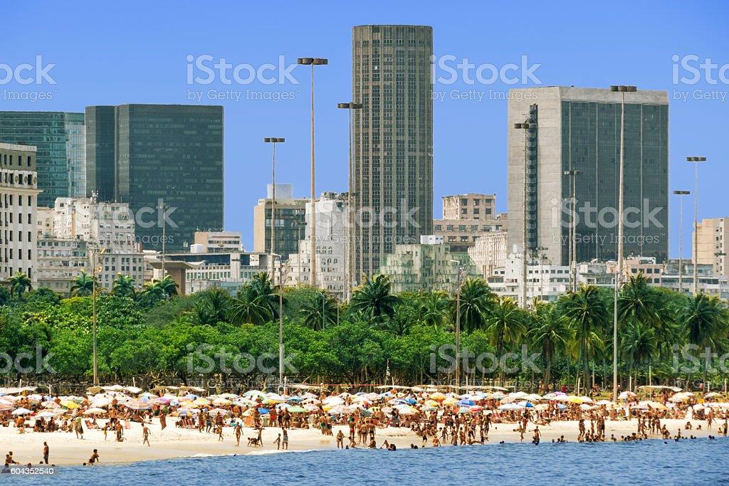 Flamengo Beach in Rio stock photo