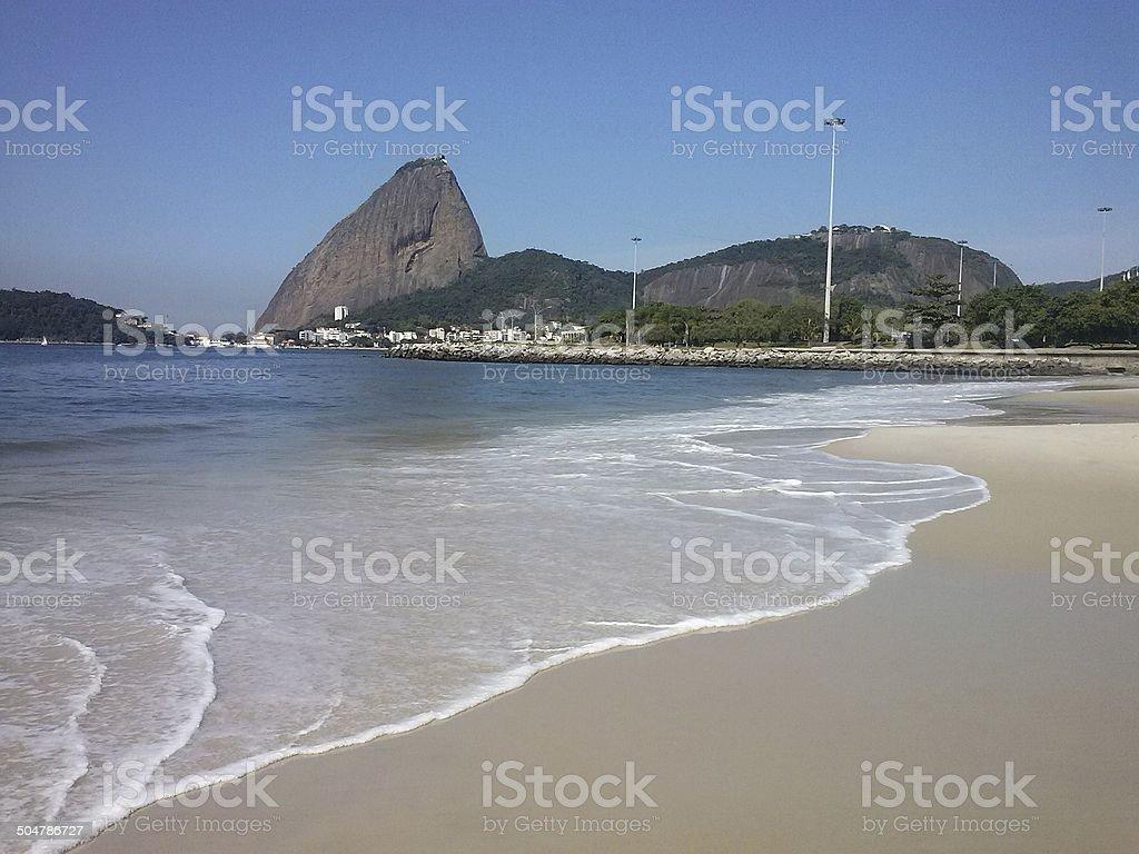 Flamengo Beach, Sugar Loaf, Rio de Janeiro, Brazil stock photo
