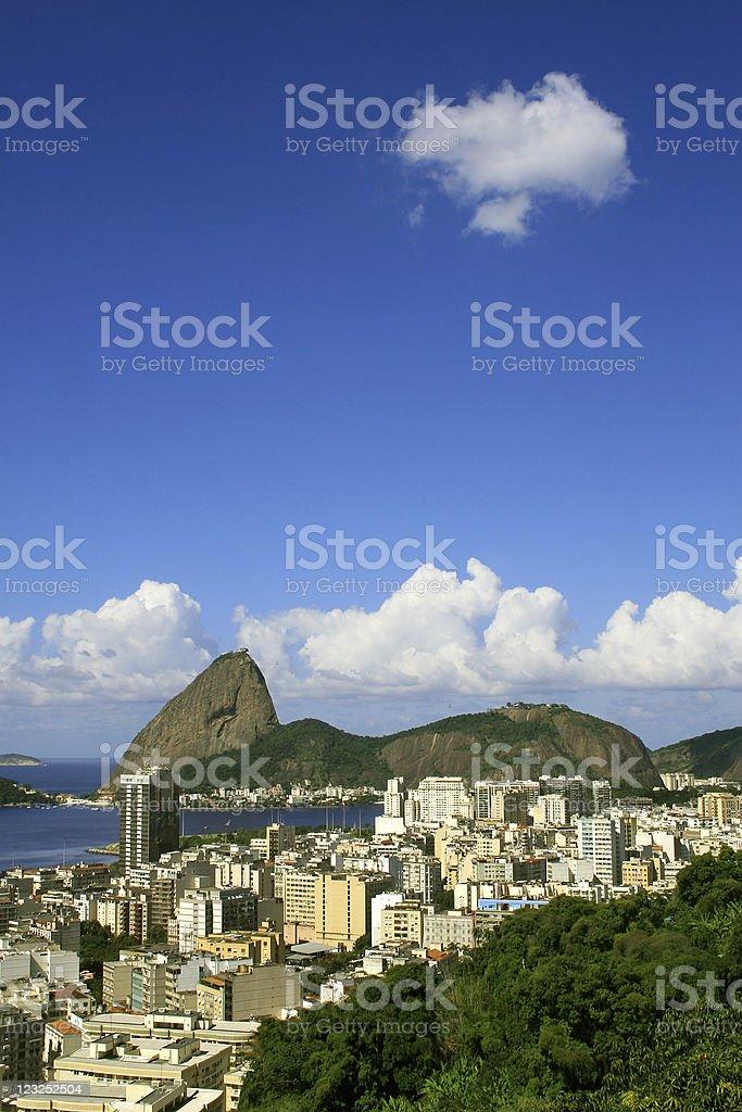 Flamengo district in Rio de Janeiro royalty-free stock photo