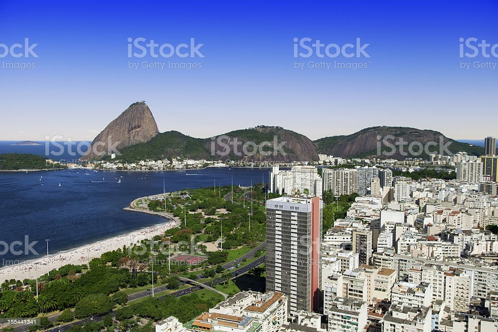 Flamengo district in Rio de Janeiro royalty-free stock photo