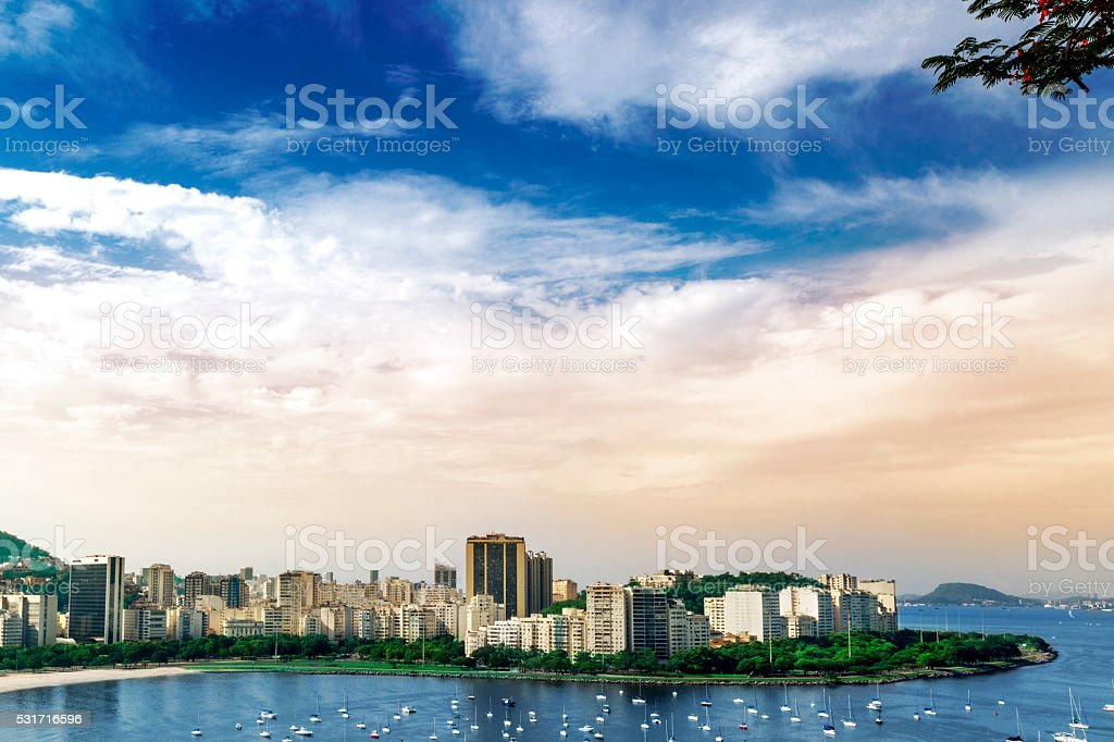 Flamengo district in Rio de Janeiro stock photo