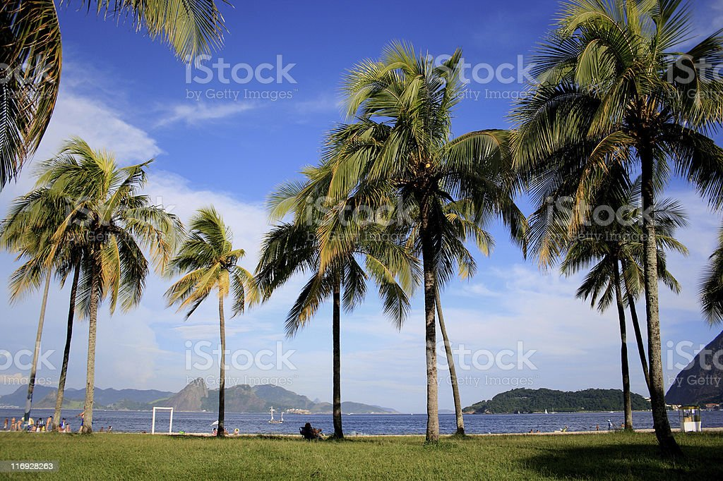 Flamengo Park and beach in Rio de Janeiro royalty-free stock photo