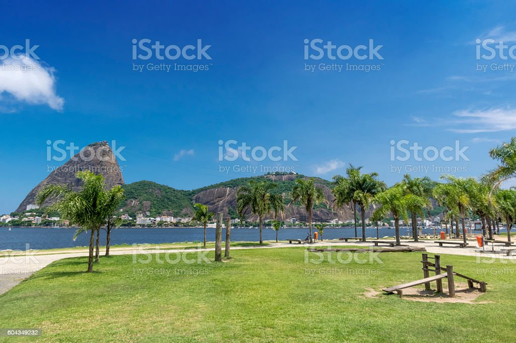 Flamengo Park and the Sugarloaf stock photo