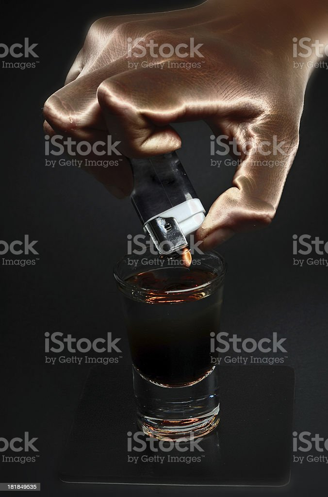 Flamer Cocktail stock photo