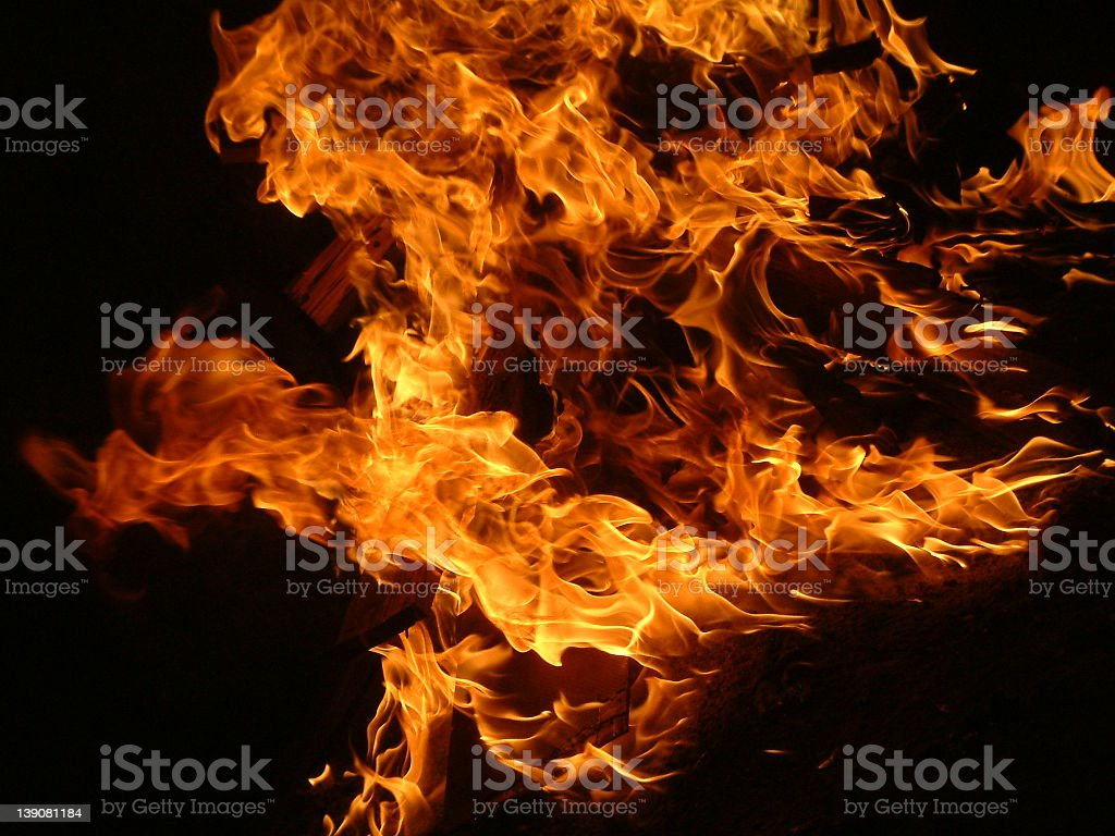 Flames 2 royalty-free stock photo