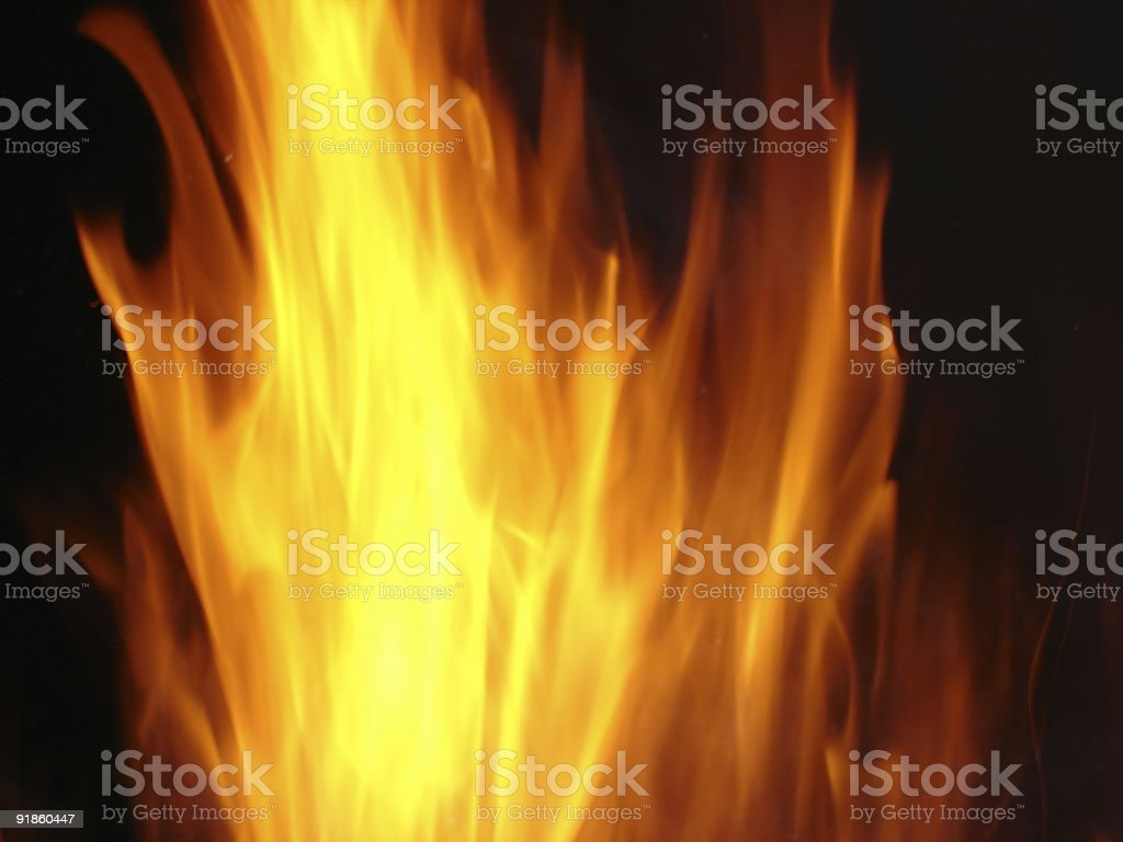 Flames and Bonfire Series stock photo