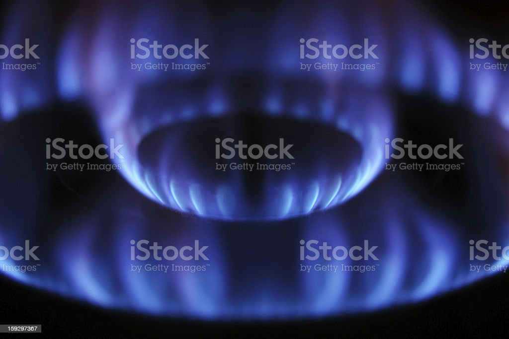 flames from burner royalty-free stock photo