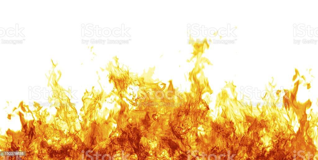 Flames on white stock photo