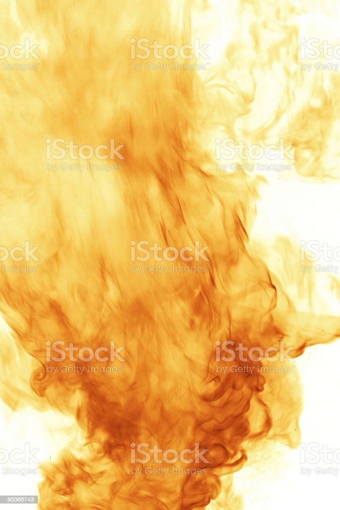 Flames on white royalty-free stock photo