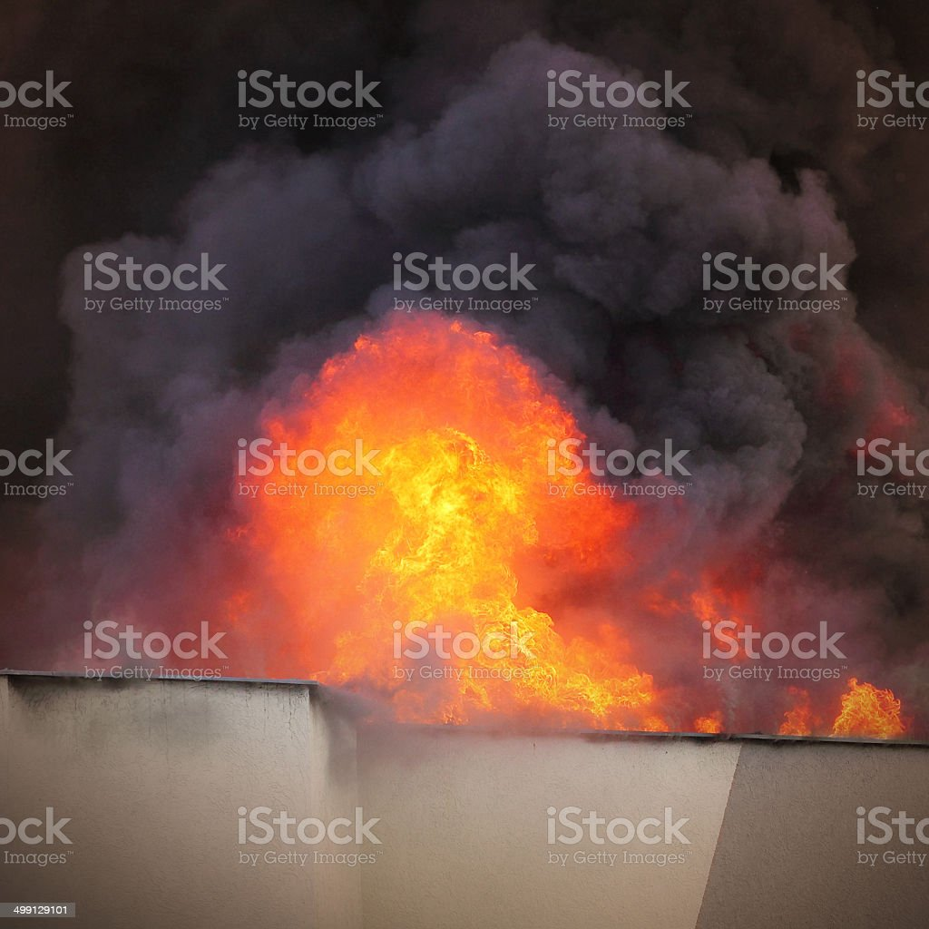 Flames. stock photo