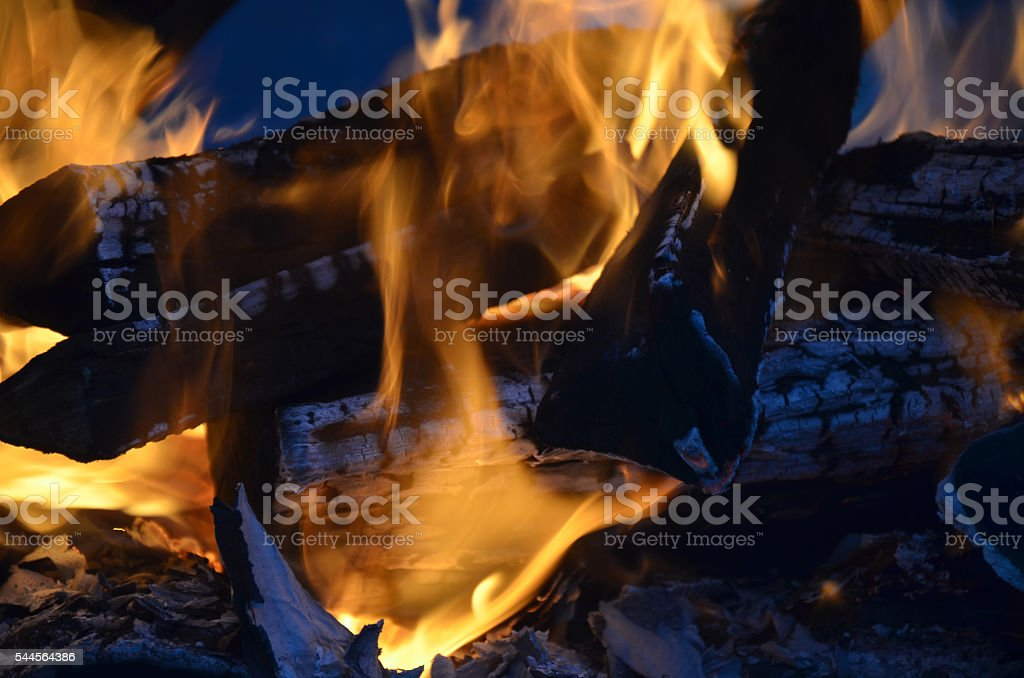 Flames stock photo