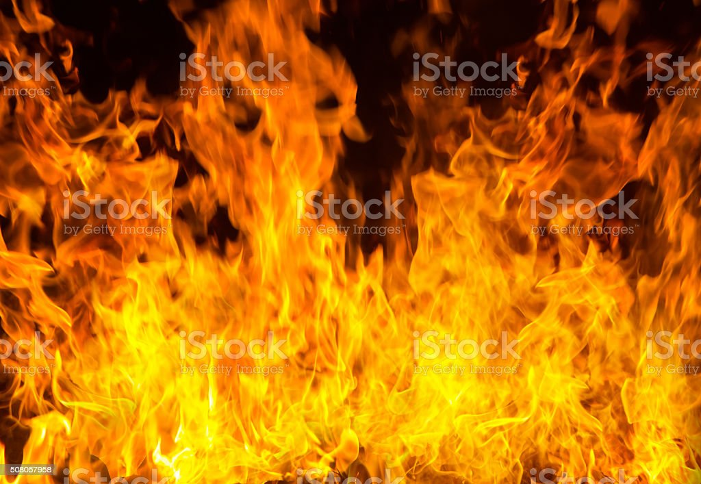 Flames raged for background stock photo