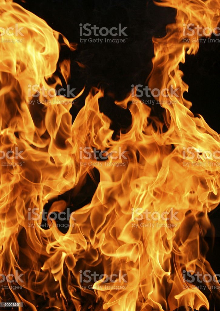 Flames Rising royalty-free stock photo