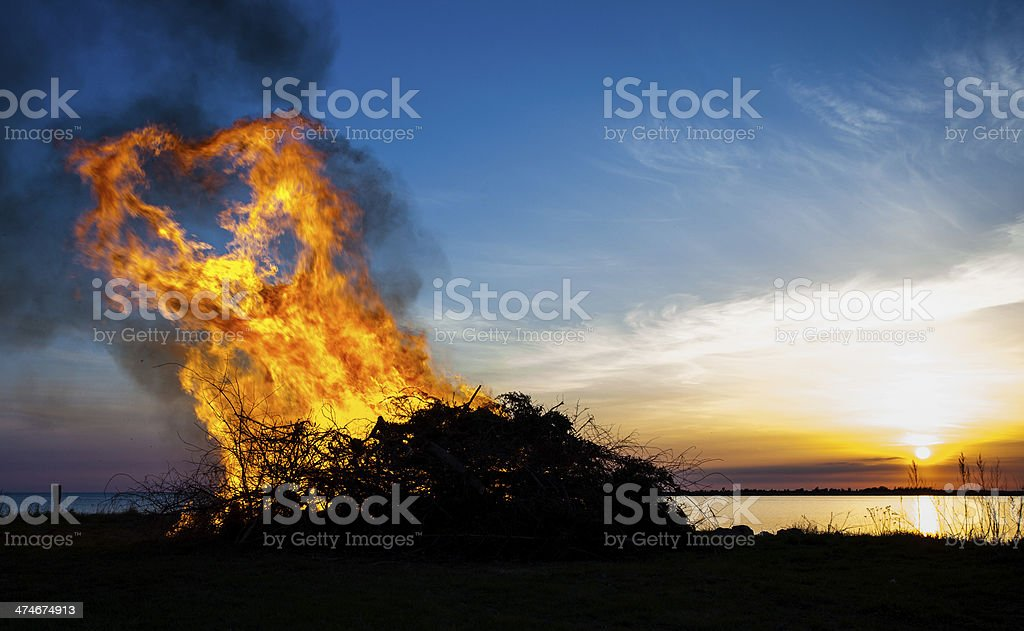 flames shaped as heart stock photo