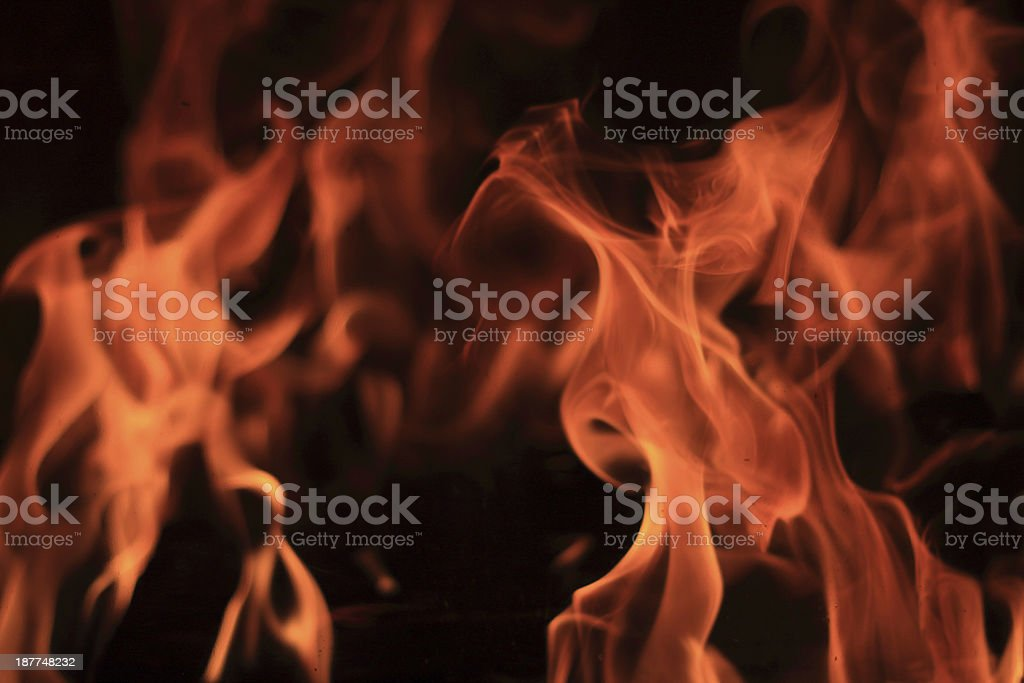 flames with a low intence stock photo