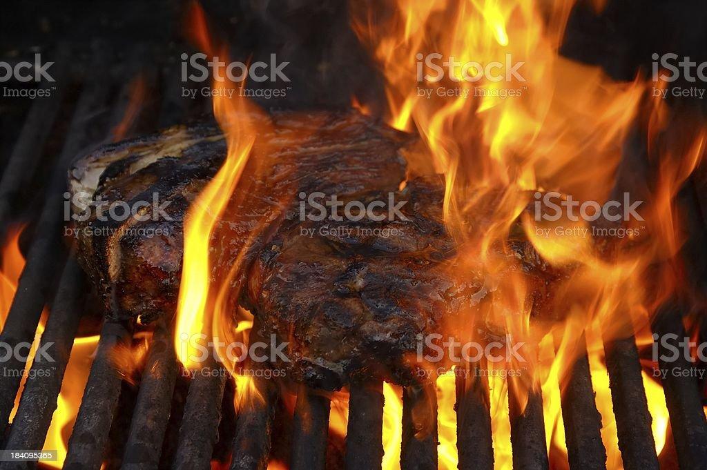Flamin Steak royalty-free stock photo