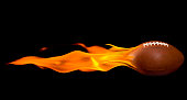 Flaming American Football