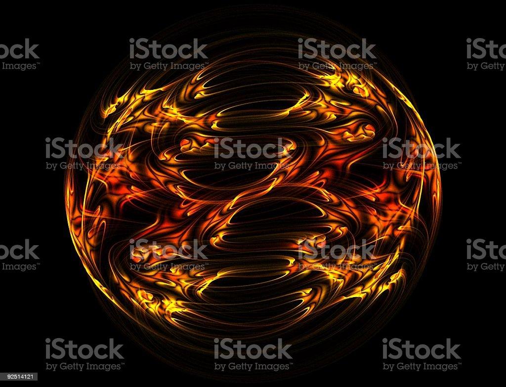 Flaming ball royalty-free stock photo